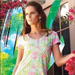 Lilly Pulitzer Flamingo above knee dress size S